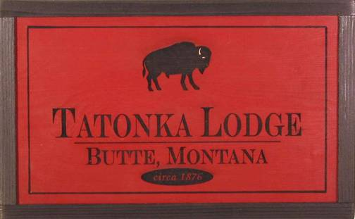 western red cedar wooden sign