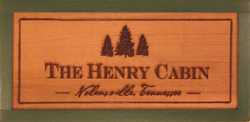 customized rustic wooden cabin sign featuring pine trees, pine tree camp sign